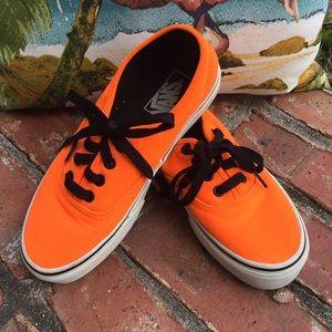 Vans Neon Orange Shoes**Trending 2019 Color**W 6